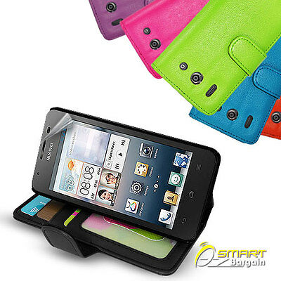 AU6.99 • Buy Photo ID Wallet Flip Leather Stand Case Cover For Huawei Ascend G510 Telstra +SG