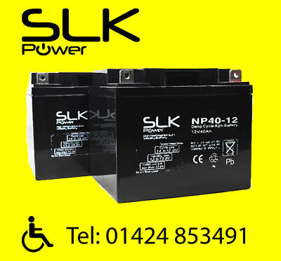 £39.80 • Buy (2.) PAIR 12v 12 17 24 33 36 40 50 55 75AH MOBILITY SCOOTER WHEELCHAIR BATTERIES