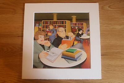 £4.85 • Buy Beryl Cook Public Library  Mounted Card 8 X 8 Funny