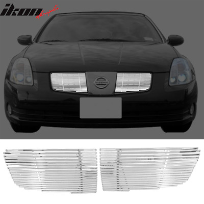 $32.99 • Buy Fits 04-06 Nissan Maxima Chrome Front Upper Hood Replacement Grille 2PC