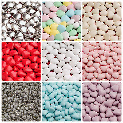 Mini Heart Chocolate Dragees Wedding/party/cake Decoration Favours/ Christening • 4.85£