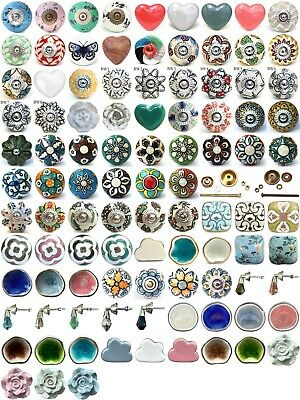 Shabby Chic Cupboard Door Knobs Handles Drawer Pulls. Vintage Ceramic Knobs. • 3.49£