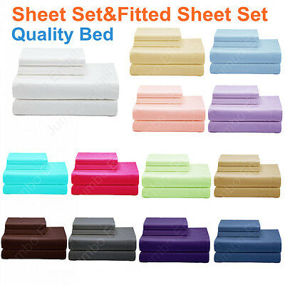 NEW Single/King Single/Double/Queen&King Bed Quality SHEET Set&FITTED SHEET Set  • 32.40AU