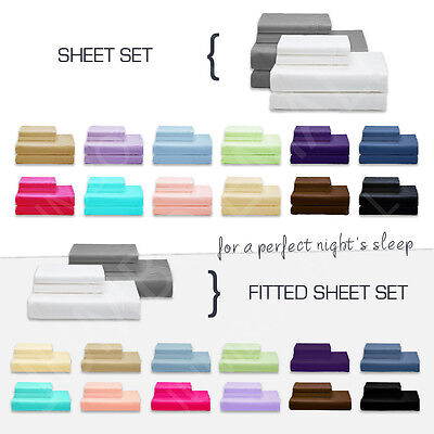 AU33.30 • Buy NEW SINGLE,KING Single,DOUBLE,QUEEN & KING BED SHEET Set-FITTED SHEET Set