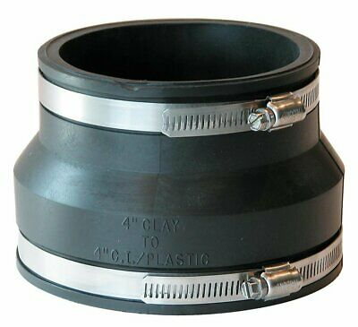 £8.35 • Buy 4  Rubber Coupling 110mm PVC Soil Drain Pipe Coupler -Repair Fitting With Clips