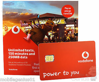 £0.99 • Buy Vodafone SIM Card Pay As You Go For IPhone 6/6S/7/8/X/XS/XR PAYG Fast Post