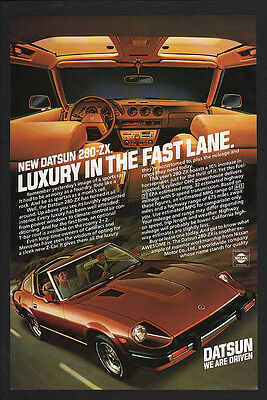 $12.99 • Buy 1980 Brown DATSUN 280-ZX Sports Car - T Top -  VINTAGE AD