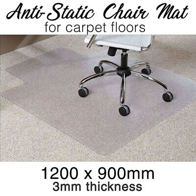 AU29 • Buy Office CHAIR MAT -Carpet- Computer Safe ANTI-STATIC 1200mm X 900mm X 3mm