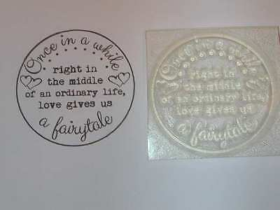Love Gives A Fairytale, Circle Clear Stamp - Wedding Cards/Favours/Invitatations • 4.75£
