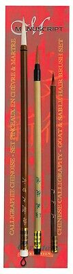 Chinese Calligraphy Brush Painting Assorted Goat & Sable Brush Set - MCR8125A • 13.99£