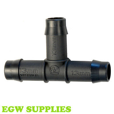 13mm Tee Barbed Irrigation Pipe Soaker Hose Fitting Antelco Hozelock Compatible • 2.99£