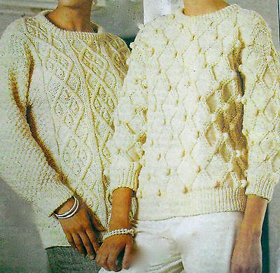 Knitting Patterns Ladies Sweaters, Cardigans, Jackets Tops Vintage Nvo23 • 2.59£