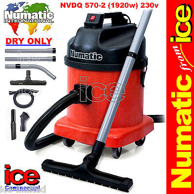 Numatic NVDQ570-2 Twin Motor Dry Industrial Commercial Vacuum Cleaner Car Wash • 524.99£