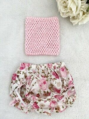 AU19.95 • Buy NEW Baby Girls Clothing Baby Bloomer & Crochet Tube Top Set Size 0-3months 000