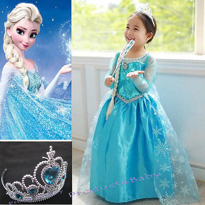 AU22.45 • Buy NEW Girls Dress Costume Princess Queen Elsa Party Birthday Size 1-12Yrears