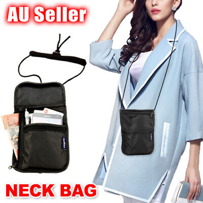 AU5.59 • Buy Travel Secure Neck Pouch Passport Card Ticket Money Secret Wallet Holster Bag