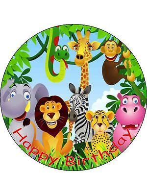 £3.75 • Buy  7.5  Jungle Animals Personalised Edible ICING Cake Topper Decoration