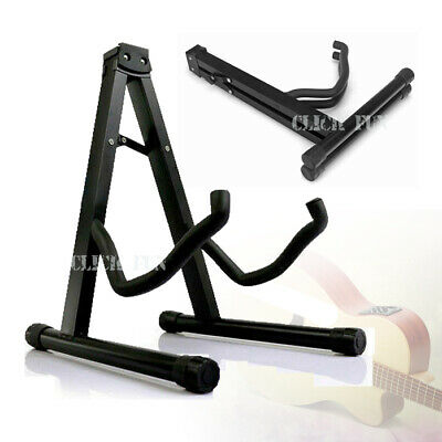 AU19.39 • Buy Folding Guitar Stand Electric Acoustic Bass Floor Rack Holder Fast Shipping