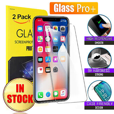 AU4.99 • Buy 2X Tempered Glass Screen Protector For Apple IPhone 8 7 6 6S Plus XS XR 11 12 13