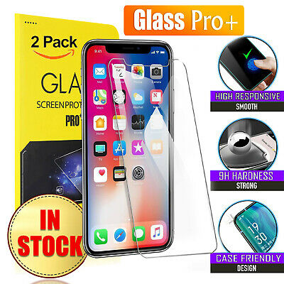 AU4.95 • Buy 2X Tempered Glass Screen Protector For Apple IPhone SE 8 7 6 6S Plus XS XR 11 12