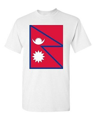 Nepal Country Flag Asia Kathmandu State Nation Patriotic DT Adult T-Shirt Tee • 9.26£
