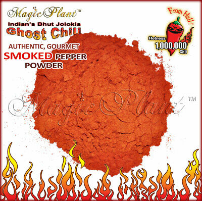 $13.95 • Buy Smoked Bhut Jolokia Pepper Powder | Ghost Pepper Powder - (5 Size Variations)
