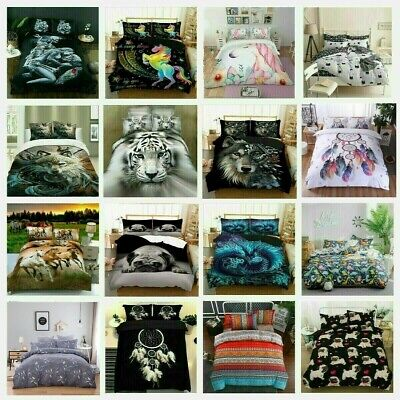 AU40.59 • Buy Quilt Duvet Doona Cover Set Pillowcase Single Double Queen King Size Bedding Set