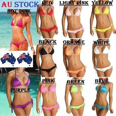AU8.95 • Buy Women Bikini Set Top Bra Bottom Summer Sexy Lingerie Swimsuit Swimwear Beach