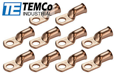 AU13.21 • Buy 10 Lot 1/0 3/8  Hole Ring Terminal Lug Bare Copper Uninsulated AWG Gauge