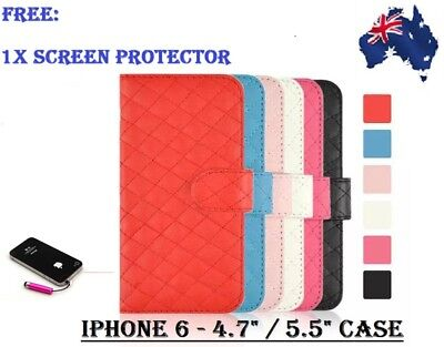 AU4.95 • Buy SHEEPSKIN LEATHER WALLET CASE CREDIT CARD SLOT APPLE IPHONE 6 4.7  And PLUS 5.5