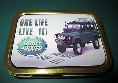 Land Rover One Life 1 & 2oz Tobacco, Storage, Bait Tin • 2.25£