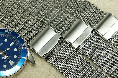 Stainless Steel Shark Mesh Chainmail Watch Strap 18mm 20mm 22mm 24mm  Bars Tool • 12.99£