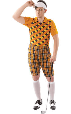 Orion Costumes Mens Orange Pub Golf Sport Stag Night Fun Fancy Dress Costume • 29.99£