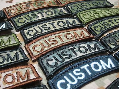 $4.25 • Buy Arc Custom Name Tape Text Brand Morale Tactics Military Embroidery Patch