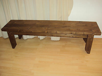 Quality Handmade Garden-kitchen-Dining-utility Wooden Bench Sturdy And Solid 5FT • 76£