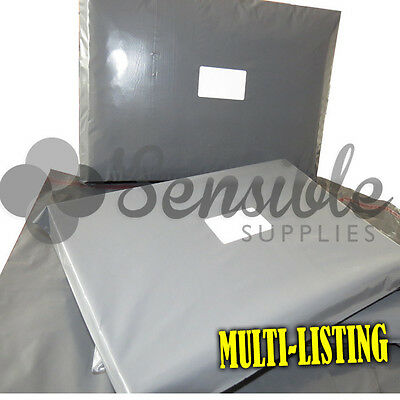 Strong Grey Plastic Postal Postage Mailing Bags Envelopes Peel & Seal All Sizes • 16.40£