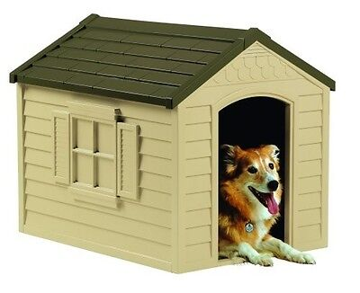 $99.28 • Buy Dog House Large Outdoors Pet Durable Resin All Weather Vinyl Door Cat Snap Asm