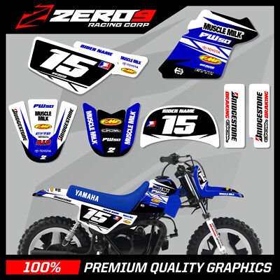 $ CDN76.64 • Buy Yamaha Pw 50 Graphics Kit Peewee Graphics Mini Bike Graphics Team Issue Blue