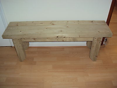 Quality Handmade Garden-kitchen-Dining-utility Wooden Bench Sturdy And Solid 3FT • 68£