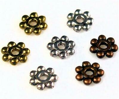 £1.99 • Buy DAISY SPACER BEADS 4mm 100 PER BAG TIBETAN SILVER / GOLD / COPPER