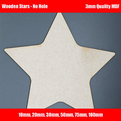 Wooden MDF Star Shapes For Crafts, Decoupage, Cut Out Blanks. Signs, Cards, Tags • 2.10£