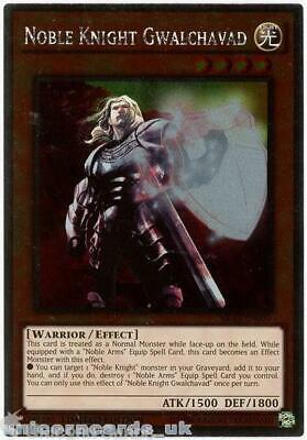 NKRT-EN007 Noble Knight Gwalchavad Platinum Rare Limted Edition Mint YuGiOh Card • 0.99£