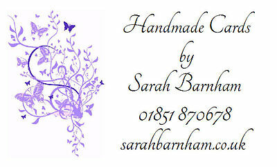 £2.99 • Buy 260 Personalised Labels Lilac Butterfly Design / Address / Lilac Butterfly