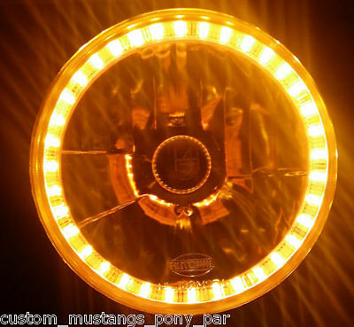AU139.95 • Buy AMBER Halo H4 Headlight Angel Eye Ford F100 F250 F350 Maverick Mercury Fairlane