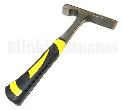 Professional Heavy Steel Shaft Brick Layer Chipping Rock Fossil Hammer 600g • 12.49£