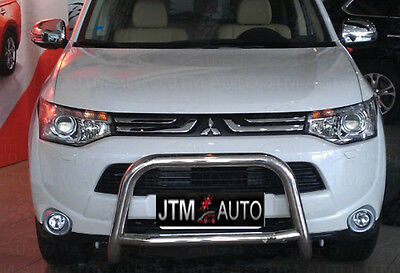 AU265.05 • Buy Nudge Bar Stainless Steel Grille Guard For Mitsubishi Outlander ZJ ZK 2013-2020