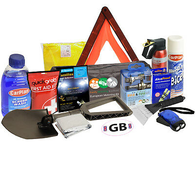 Winter Car Euro Travel Kit Intermediate Safety Weather Essential Snow Ice Europe • 34.98£
