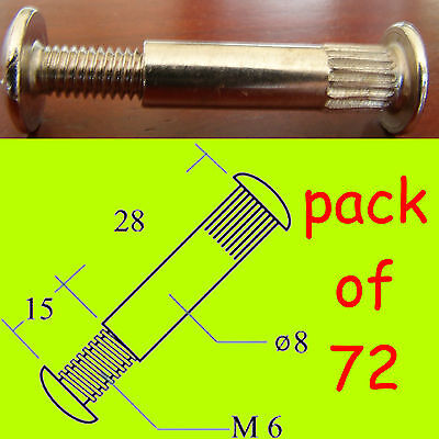 £5.99 • Buy 72x Connector Bolts/screws M6 30-40mm Kitchen/bedroom Cabinet/cupboard Furniture