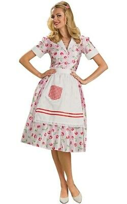 50's 1950s Housewife Adult Womens Fancy Dress Domestic Goddess Costume • 28.35£