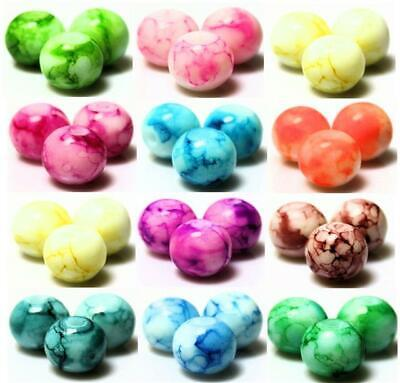 PASTEL SUMMER DRAWBENCH GLASS BEADS Choose 6mm 8mm 10mm COLOUR CHOICE • 1.89£